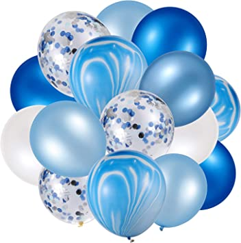 Amazon.com: 60 globos de látex de ágata de 12 pulgadas para ...