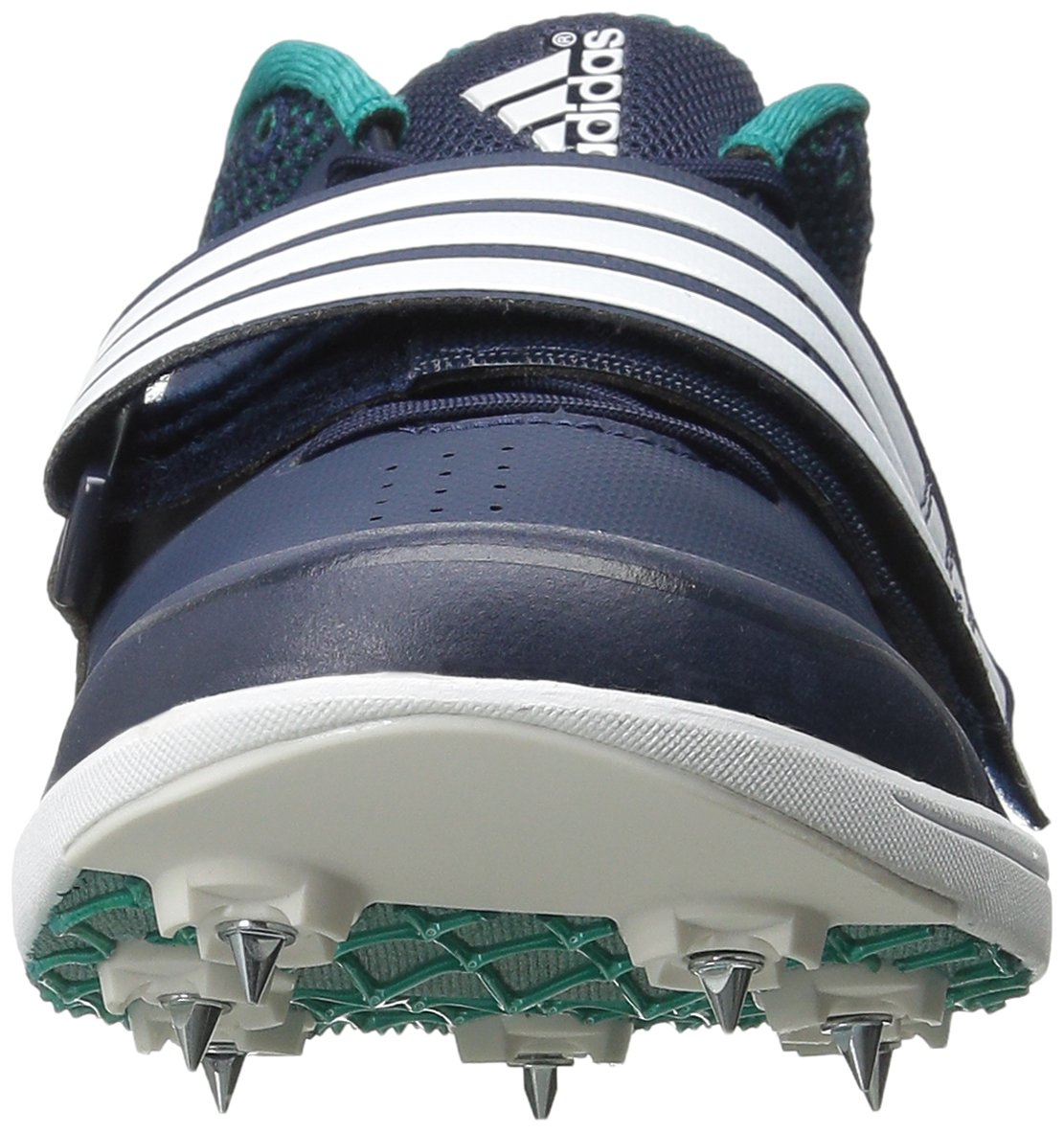 adidas Performance Women's Adizero TJ/PV Running Shoe with Spikes,Collegiate Navy/White/Green,15 M US by adidas (Image #4)