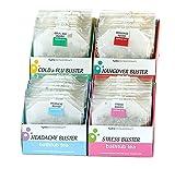hydraAromatherapy Bathtub Tea-Wellness Variety Pack Cold & Flu Buster, Hangover Buster, Headache Buster and Stress Buster Bathtub Teas