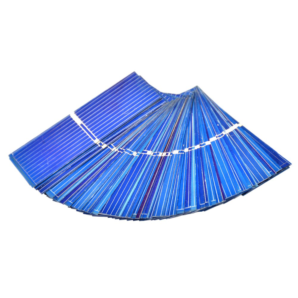 AIYIMA 100 unidades de micro celdas solares 0, 5 V 0, 46 W policristalino paneles solares de silicona para bricolaje telé fono celular baterí a de carga 52 x 52 mm