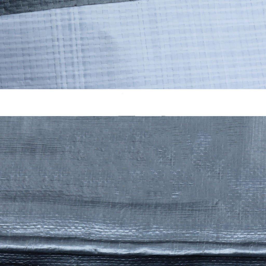 Im Freien Plane aufgefüllter regendichter Wasserdichter Weiß Logistik-LKW, der staubdichten winddichten Plastikstoff-Hochtemperatur Anti-Altern, Silber + Weiß Wasserdichter errichtet (Farbe : A, größe : 2  3m) 1ba9c0
