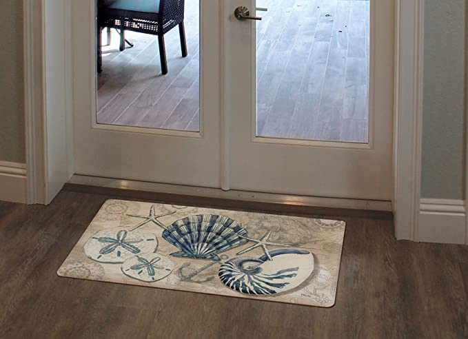 Counter Art Tide Pool Shells Anti Fatigue Floor Mat 30 X 20 Kitchen Dining