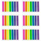 840 Stücke Kleine Fahnen Tabs Haftnotizen Beschriftbare Etiketten Seite Marker Lesezeichen Text Textmarker Streifen, 8 x 45 mm, 6 Set, 7 Farben