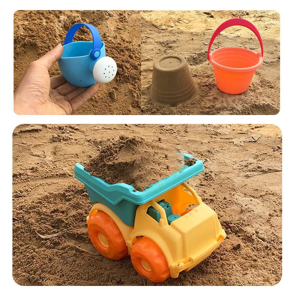 Dreamon Juguetes de Playa 9 Piezas Set con Camione Cubo Pala Arena ...