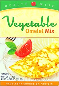 Healthwise - Vegetable Omelet | Delicious Protein Breakfast | High 15g Protein, Less Than 1 Gram of Sugar, Trans Fat Free, Low Carb, (7/Box) Appetite Suppressant & Hunger Control