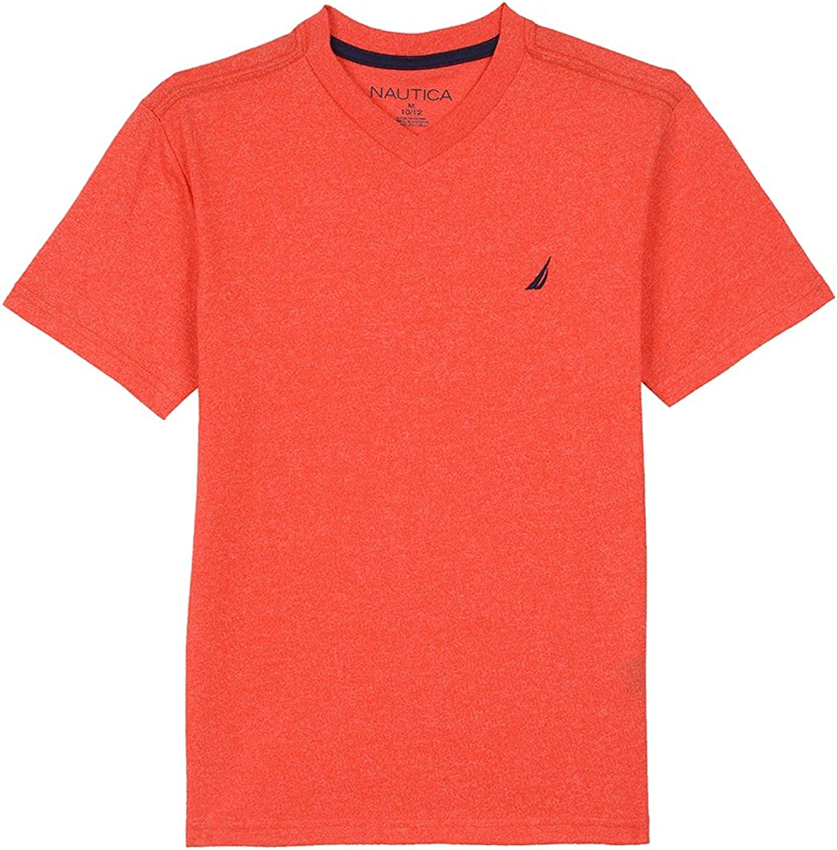 Nautica Boys Short Sleeve Solid V-Neck T-Shirt