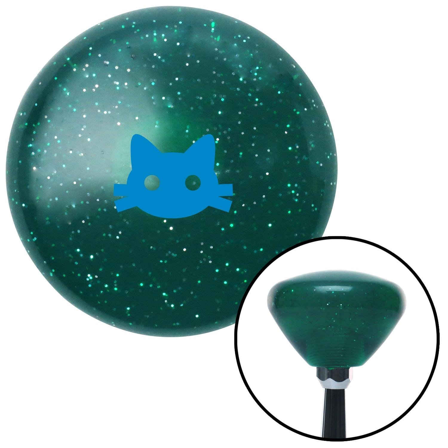 American Shifter 176528 Orange Retro Metal Flake Shift Knob with M16 x 1.5 Insert Green Lock Symbol