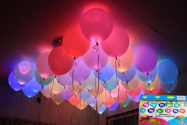 Jiada LED Balloons For Party Festival Celebrations Set Of 25 Amazonin Toys Games
