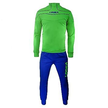 7ffbb1ac9b986 Legea Nigeria Tuono Tracksuit Training Long Sleeve T-Shirt green Verde Fluo  Azzurro Size:
