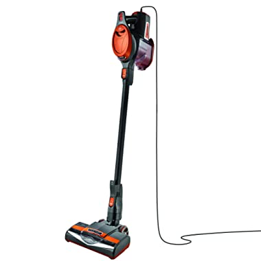 Shark Rocket Ultra-Light Corded Bagless Vacuum for Carpet and Hard Floor Cleaning with Swivel Steering (HV301), Gray/Orange
