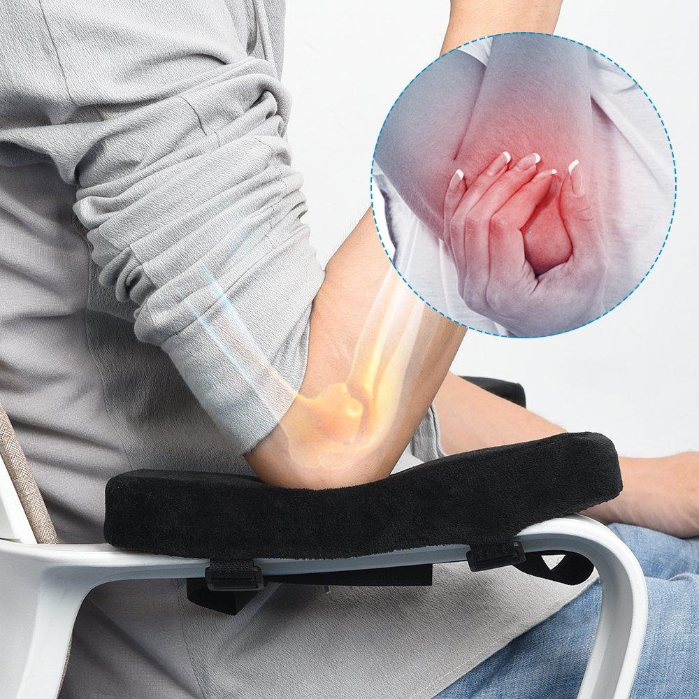 Lall/ègement de la Pression pour la Douleur au Bras Housse dAccoudoir pour Chaise de Bureau Coussin de Coude