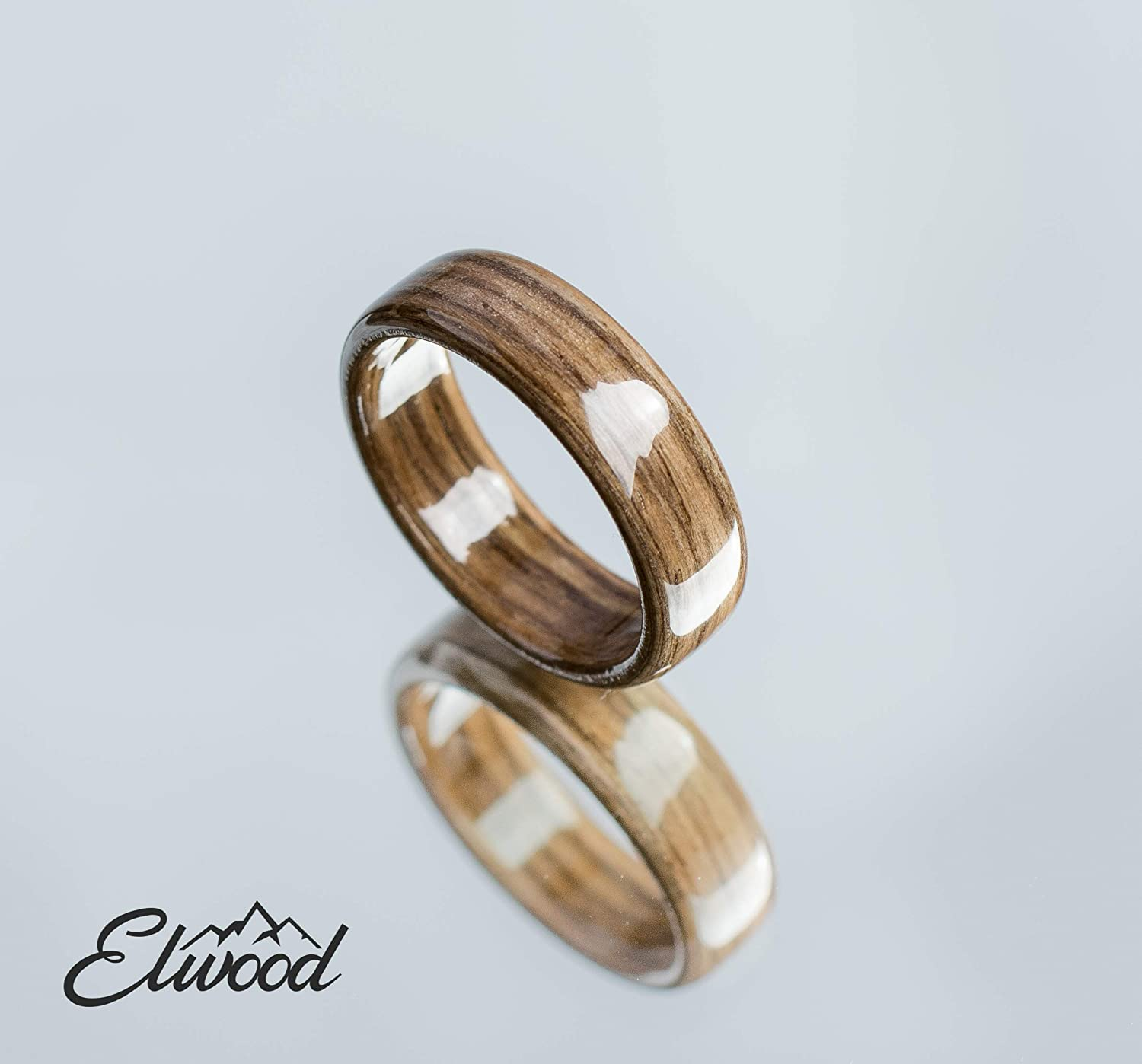 Walnut Wedding Ring Wooden Jewellery Unique Band