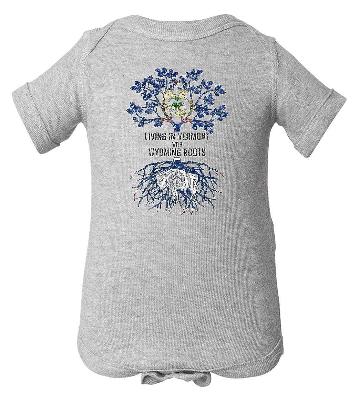 Tenacitee Babys Living in Vermont Wyoming Roots Shirt