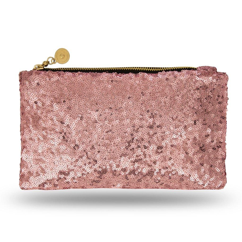 oro rosa bolso de noche Noble para damas y ni/ñas reluciente ideal para una fiesta o una boda Lady Donovan clutch bolsa con cierre de cremallera