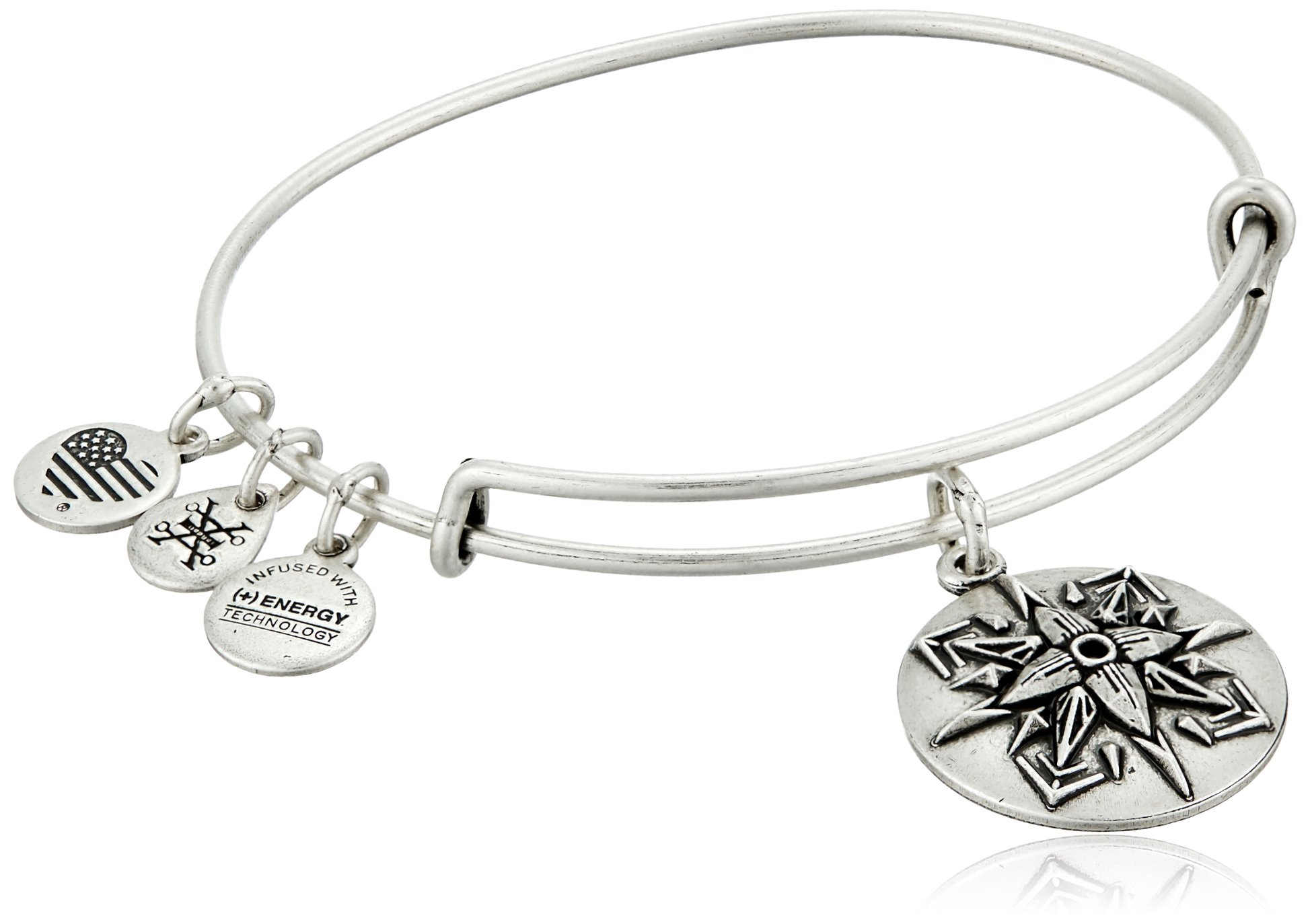 Alex and Ani Healing Love Expandable Rafaelian Silver Bangle Bracelet