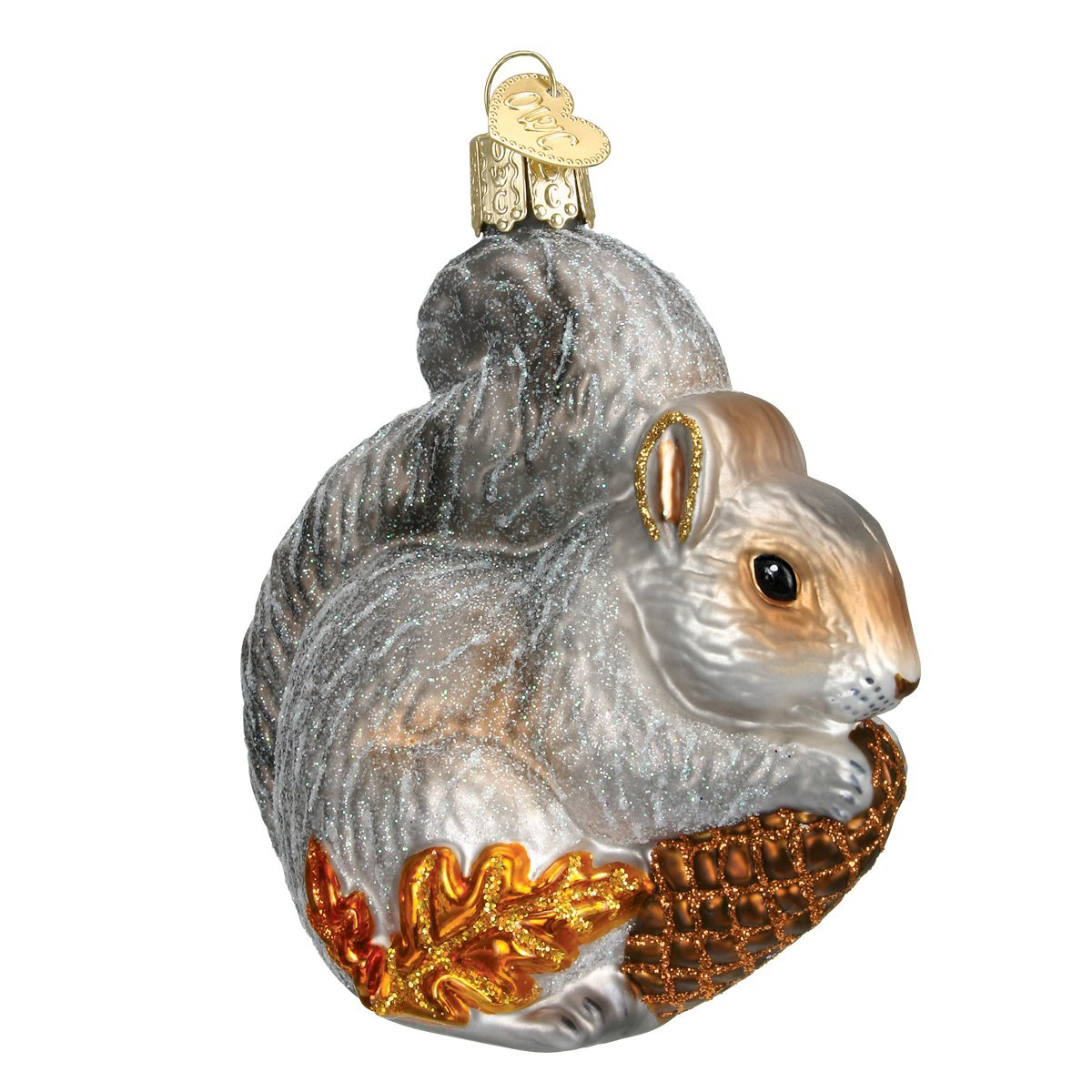 Amazon.com: Old World Christmas Hungry Squirrel Glass Blown ...