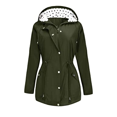 732b3ad6a2d7f BBX Lephsnt Rain Jacket Waterproof Active Outdoor Hooded Women s Trench  Coats Army Green