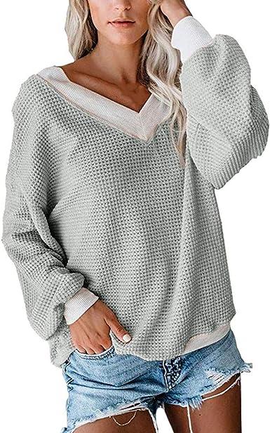 Camisas de Mujeres Blusas de Moda Tops de Punto de Jersey de ...