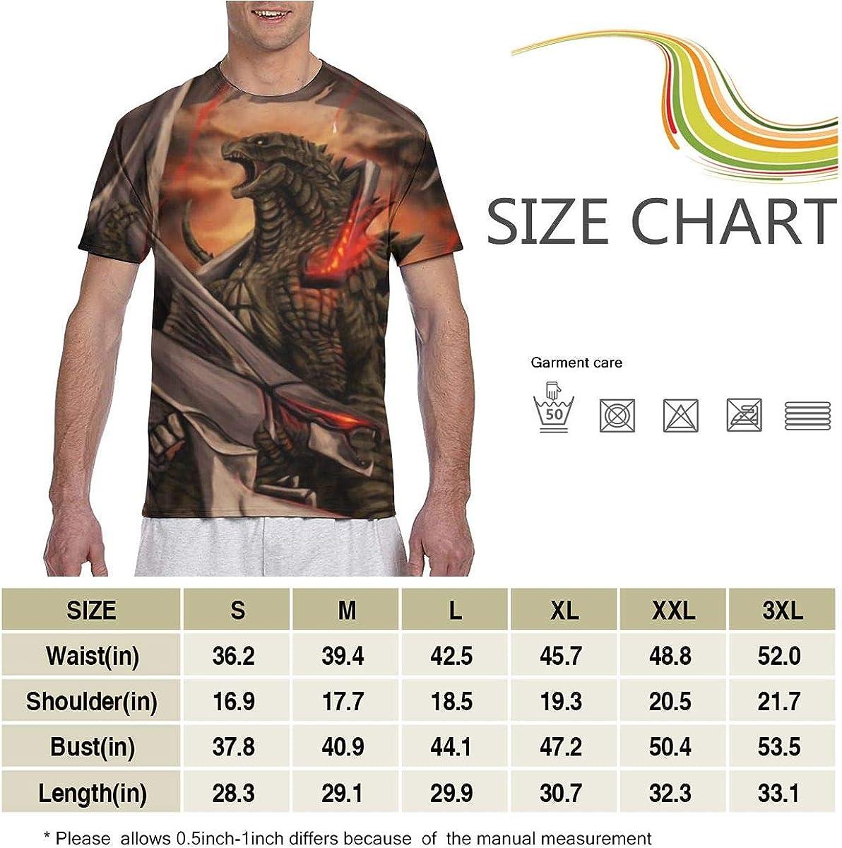 PX DIY SHOP Men Tops Adult Autumn T-Shirts Crewneck Short Sleeve Colorful Graphic Print Top Tees