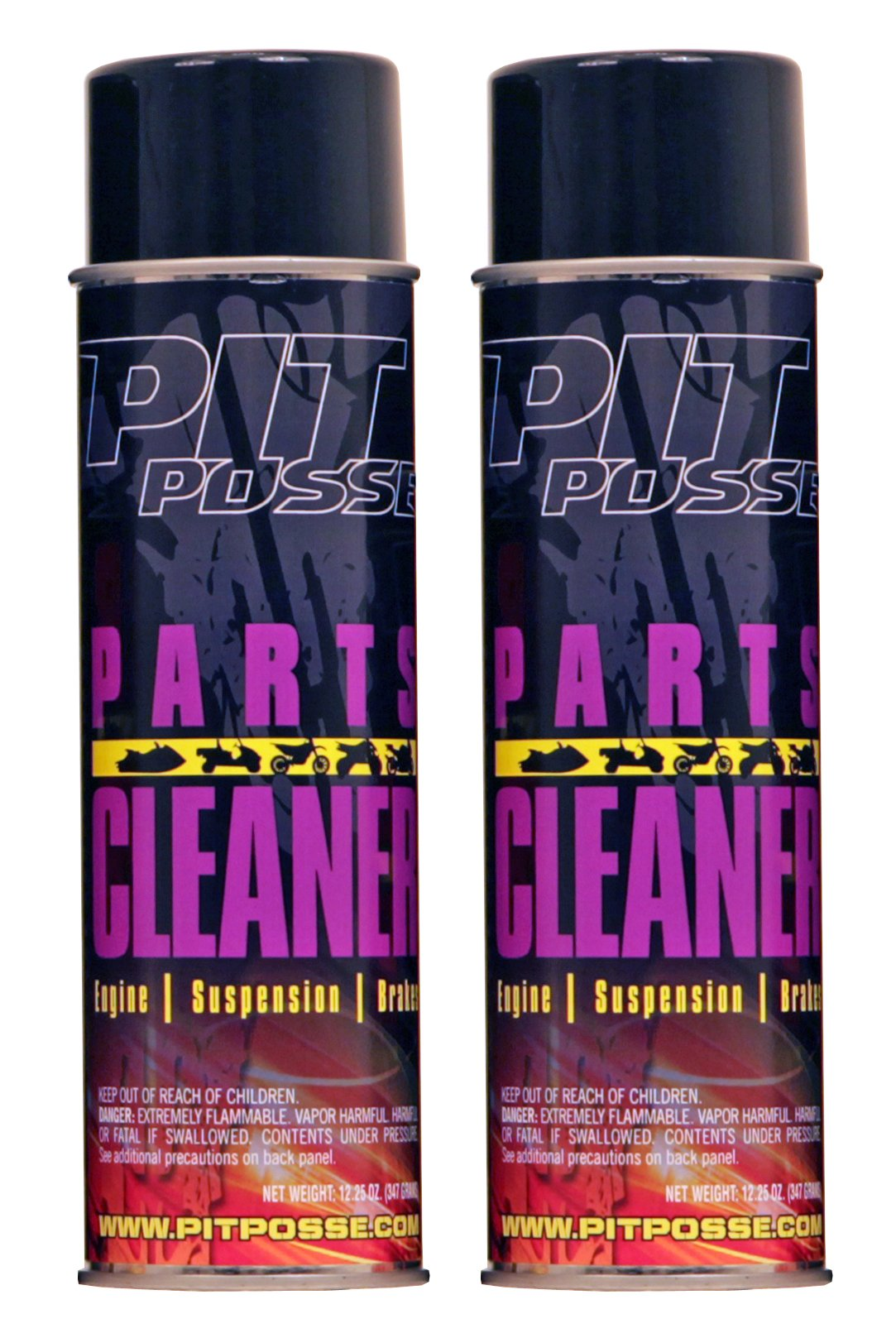 Pit Posse PP3231-2 2 12.25 Oz Cans Of Parts And Brake Cleaner Motorcycle ATV Dirt Bike Made In USA by Pit Posse