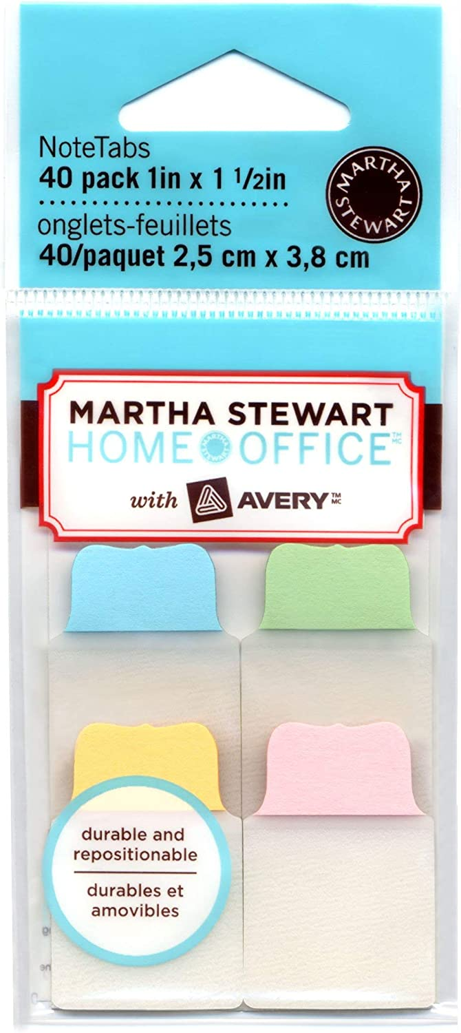 Martha Stewart Home Office with Avery NoteTabs Pastel 40