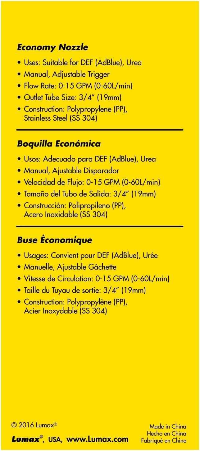 Urea Economy Lumax LX-1364 Nozzle for DEF Ad Blue