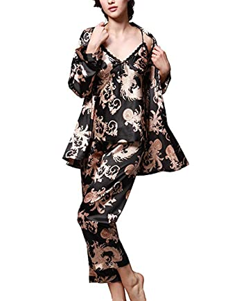 a208365eb5d5 Image Unavailable. Image not available for. Color  BridalAffair Women s  Pajama Sets ...