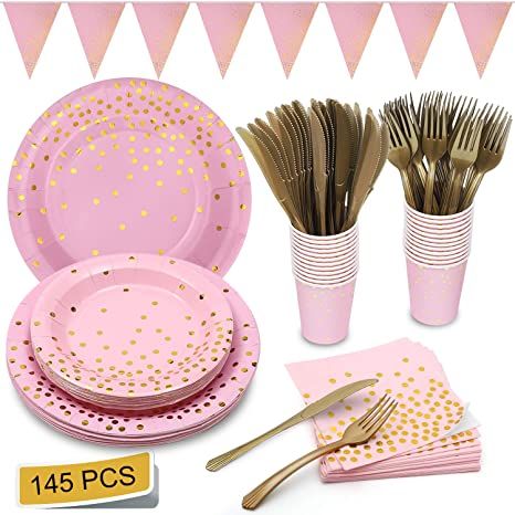 Amazon.com: Gold Party Supplies - Juego de servilletas de ...