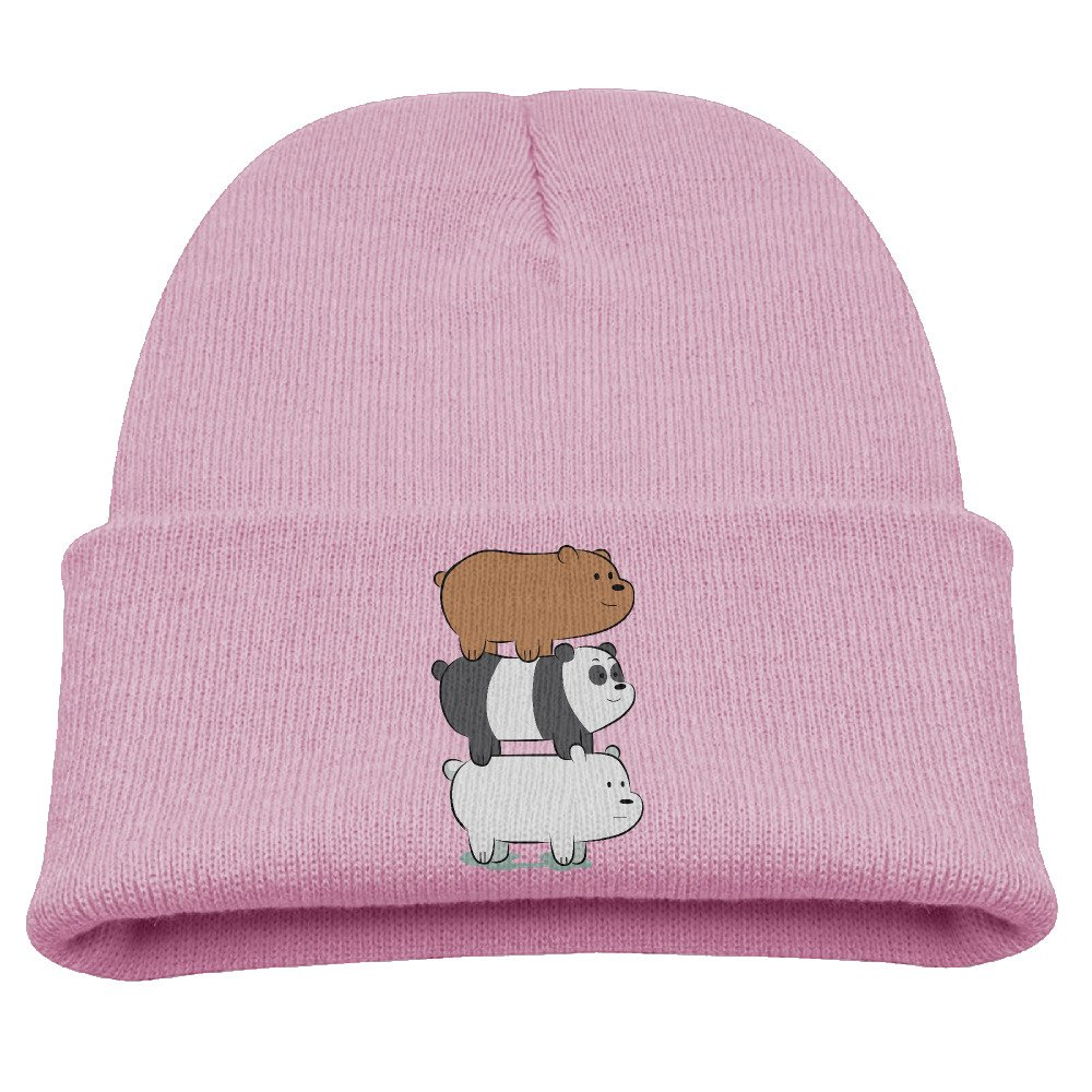 Kids Beanie Hat We Bare Bears Skull Cap In 4 Colors