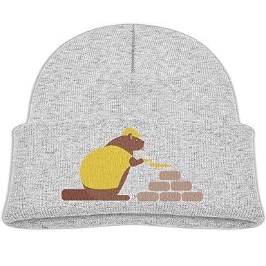 Amazon.com  Fzjy wnx Beaver Architect Wool Beanie Caps Cool Boys 0-3 ... 8584f36c4344