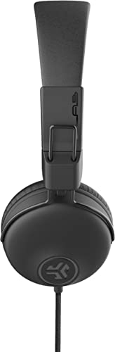 JLab Audio Studio On-Ear Headphones Wired Headphones Tangle Free Cord Ultra-Plush Faux Leather with Cloud Foam Cushions 40mm Neodymium Drivers with C3 Sound Black