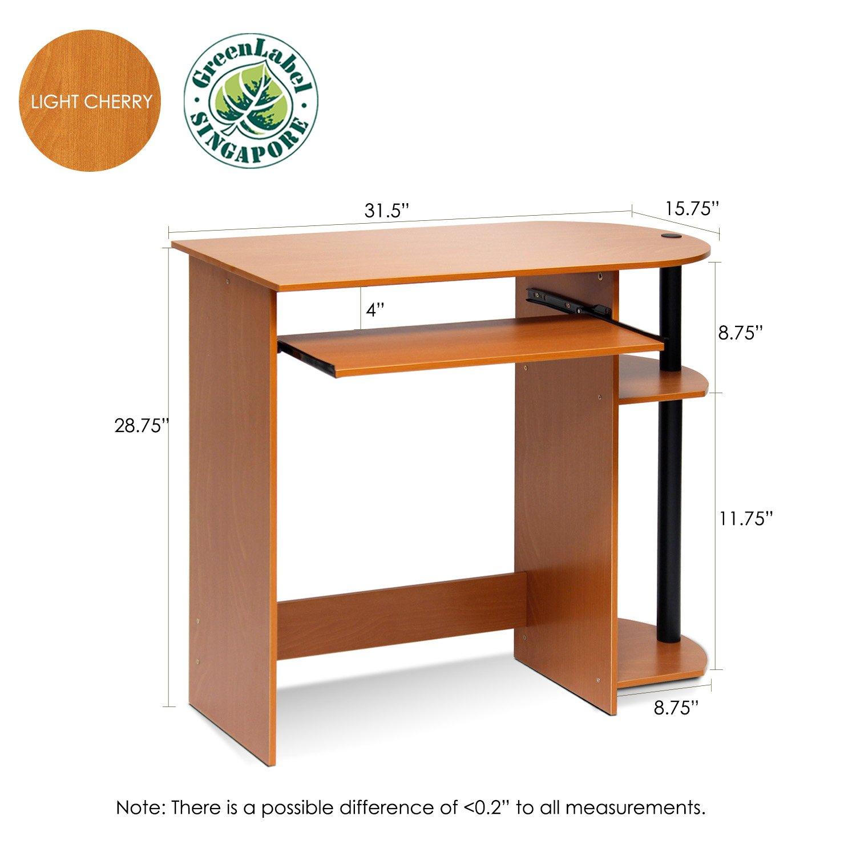 Amazoncom Furinno 14098R1LCBK Easy Assembly Computer Desk