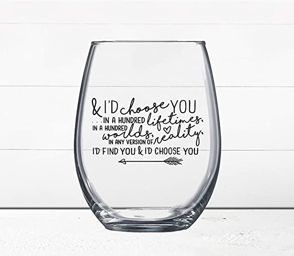 Amazon ON SALE BUY 60 GET 60 FREE Love Quotes Wine Glass I'D Magnificent Free Love Quotes With Pictures