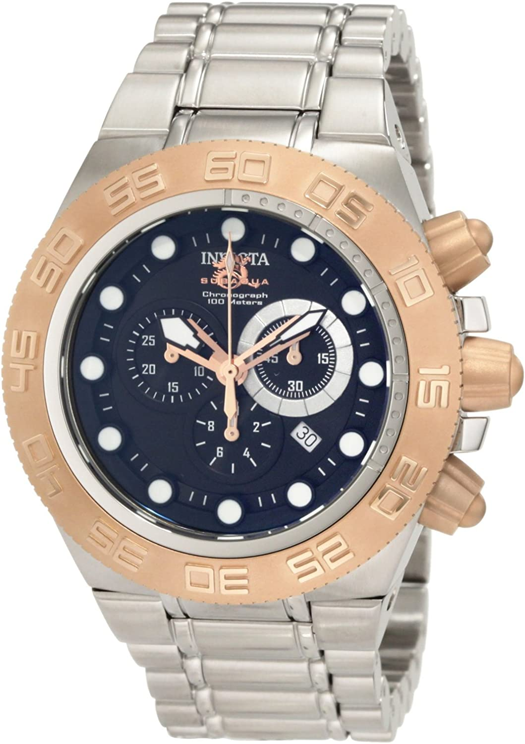 Invicta Men s 1529 Subaqua Sport Chronograph Black Dial Stainless Steel Watch