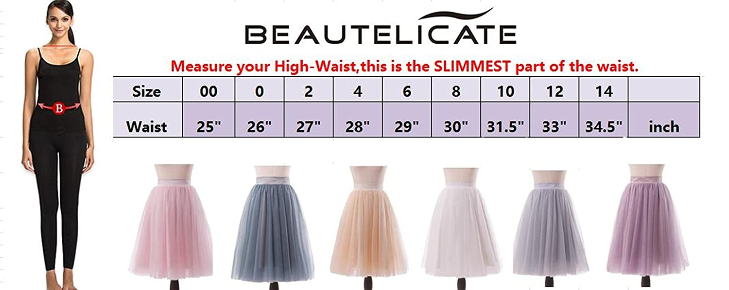 80234379e6 BEAUTELICATE Women's A Line Princess Tutu Tulle Skirt for Prom Party 30