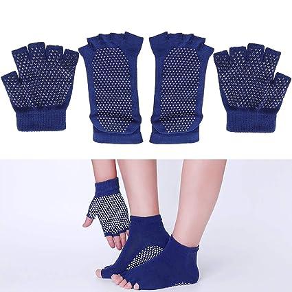 LIOOBO Moda Mujer Yoga Calcetines Cinco Dedos Puntos de ...