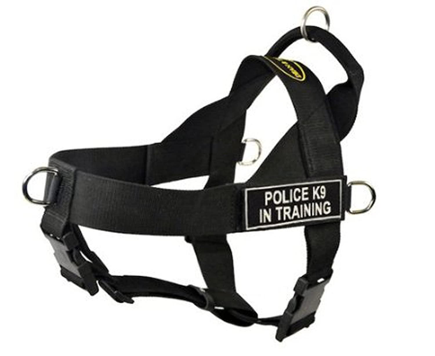 Dean & Tyler Universal No Pull Dog Harness, Police K9 in Training, X-Small, Fits Girth Size  21-Inch to 25-Inch, Black