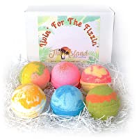 6 Large Bath Bomb Gift Set with Shea & Cocoa Butters- BEST GIFT YEAR ROUND- MADE...