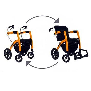 Amazon.com: Rollz Motion – Silla 2-n-1 Rollator Transporte ...