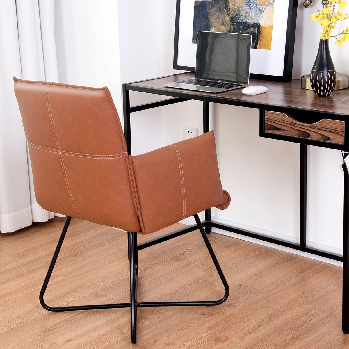 Amazon.com: Giantex 2 piezas sillas de comedor taburetes W ...