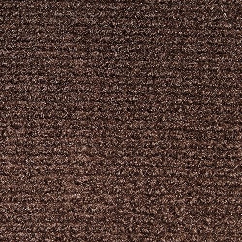 - House, Home and More Indoor Outdoor Carpet with Rubber Marine Backing - Dark Brown - 6 Feet x 10 Feet