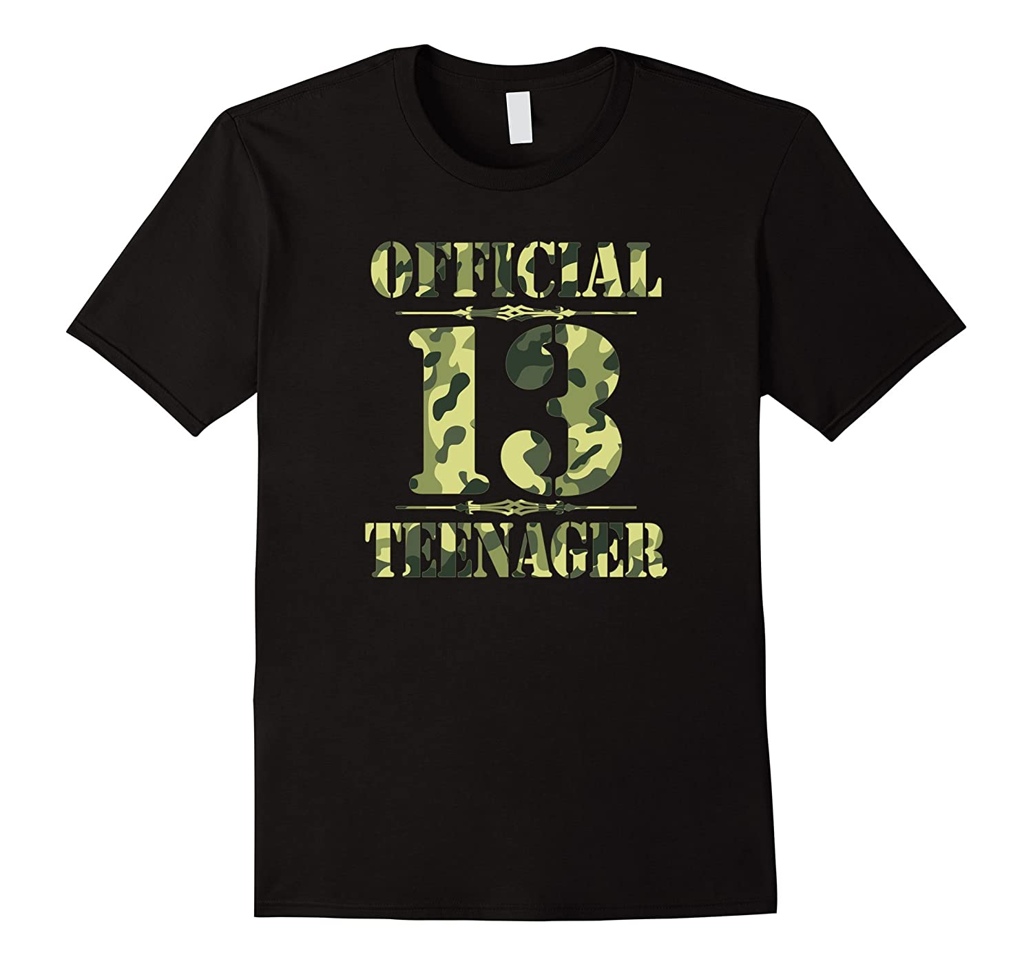 Official Teenager Teen 13th Birthday Thirteen Camo-TD