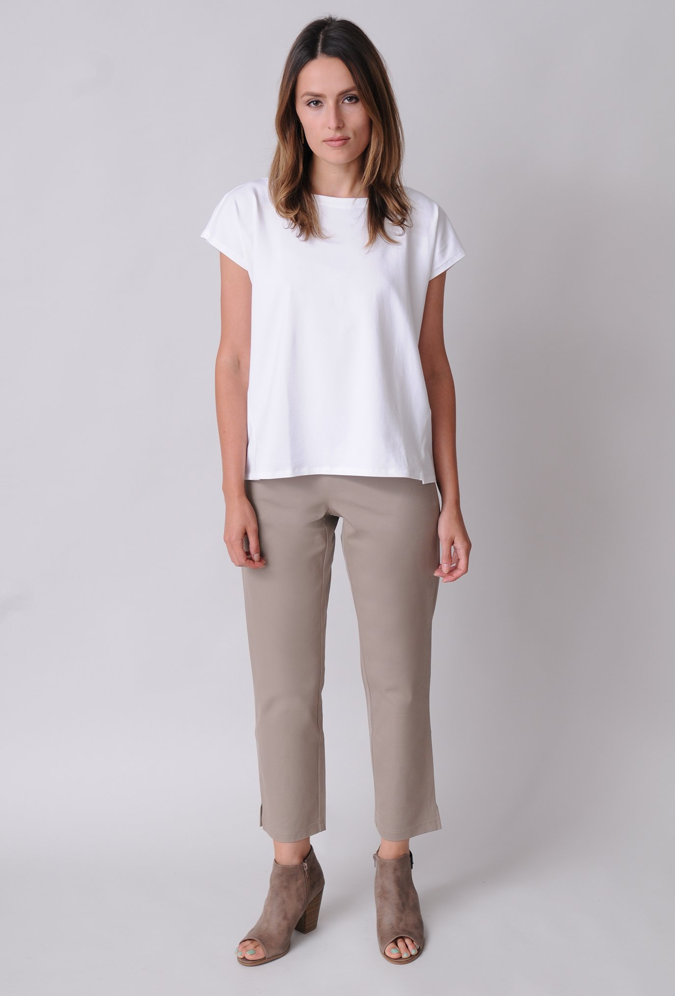 Eileen Fisher Organic Cotton Stretch Twill Slim Ankle Pant