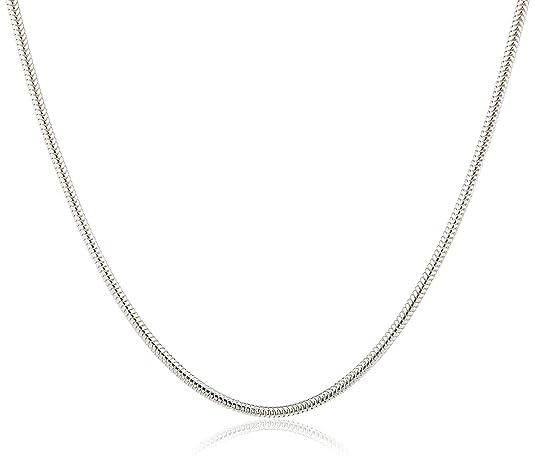 InCollections Damen-Halskette 925/000 Sterlingsilber Schlangenkette