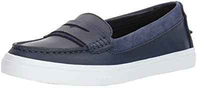 55686716a54 Cole Haan Women s Pinch Weekender LX Loafer 5 Marine Blue Oiled Vachetta-Optic  White