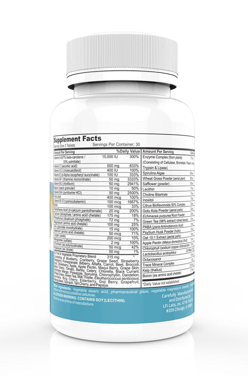 Elements Complete Best Multivitamin Superfood — The Most Complete Vitamin-Mineral-Antioxidant-Probiotic-Enzyme-Superfood Blend. The Ultimate All-in-One.