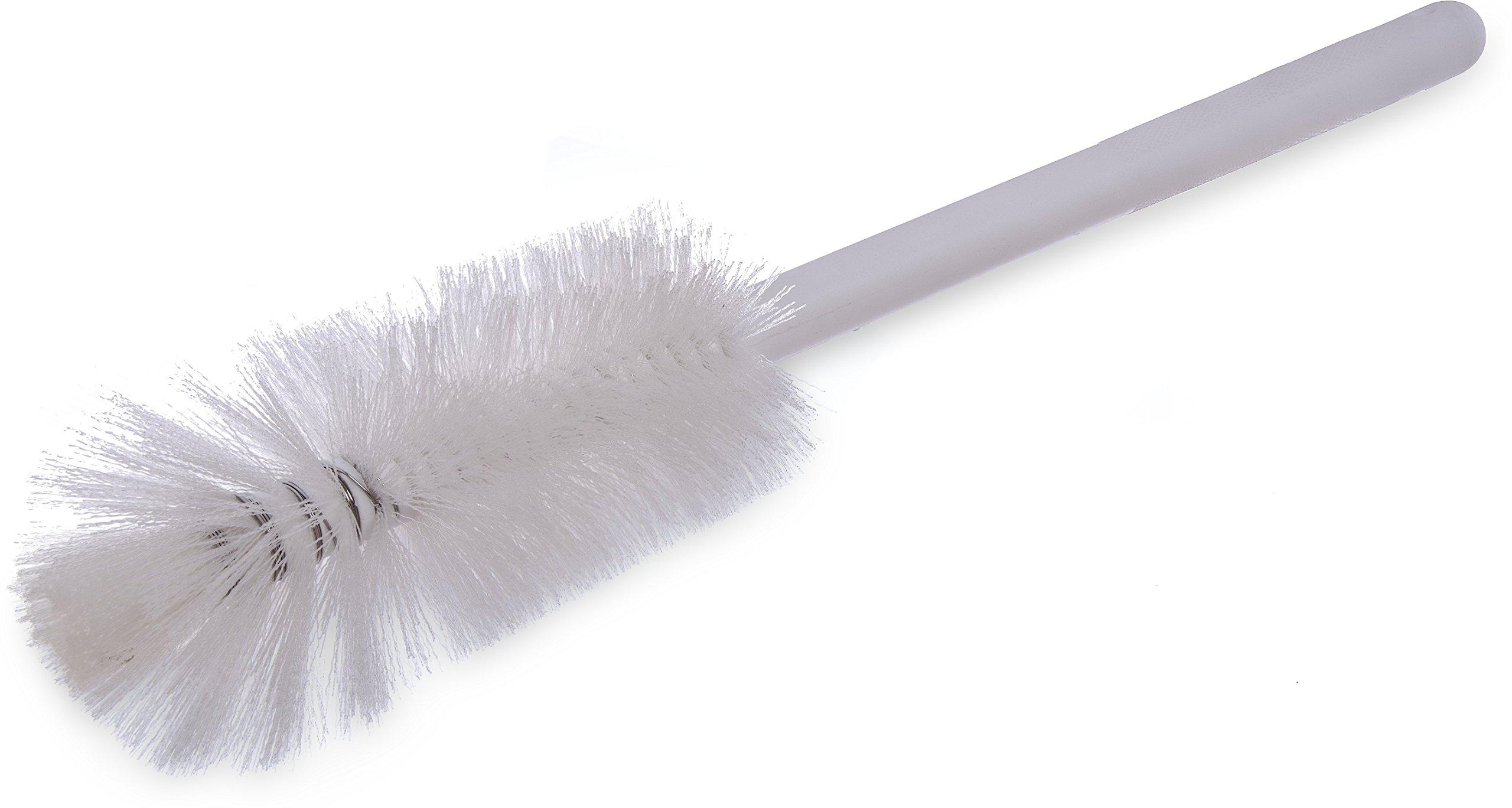 Carlisle 4046702 Sparta Handle Quart Bottle Brush, Polyester Bristles, 3'' Bristle Diameter, 16'' Overall Length, White (Pack of 12)