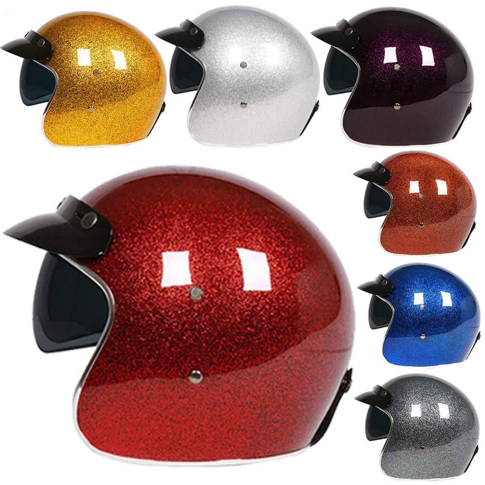 with CoolMax Lining ECE certification M-GLT Motorcycle Helmet Slim Skinny Fit Retro Custom Bobber Open Face Motorcycle Helmet Vintage HarIey Helmets