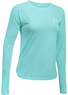 Under Armour Womens 1302371-001 Under Armor Charged Cotton Tri-Blend Graphic Long Sleeve
