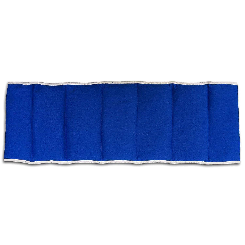 Kirschkernkissen 7-Kammer mit G/ürtel /& Klettverschluss Bio-Stoff dunkelblau W/ärmekissen XXL K/örnerkissen L/änge ca 135cm